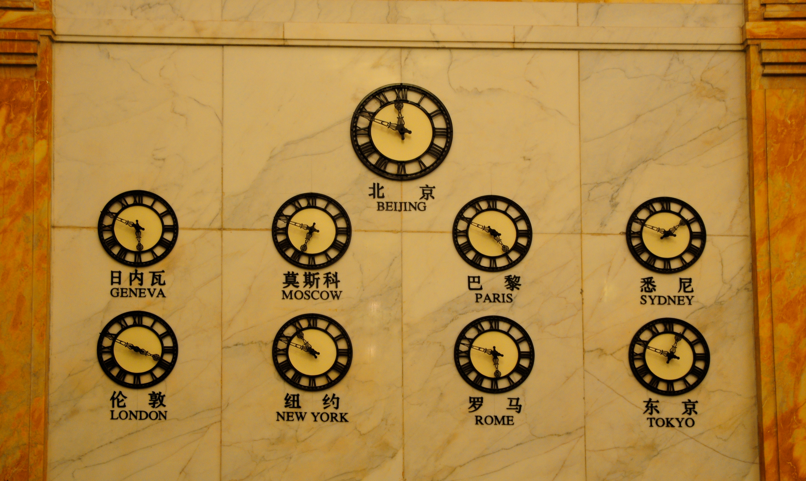 Clocks in Shanghai